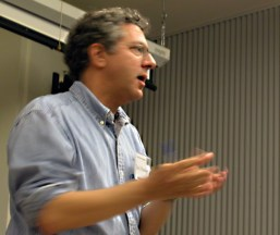 """David Brundage, a Community Studies professor at UCSC, discussed student protest movements in the US and showed a portion of """"Eyes on the Prize"""" about student lunch counter sit-ins which took place in Nashville, TN."""