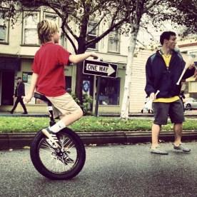 Orchard School Unicyclist