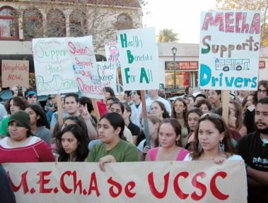 M.E.Ch.A. de UCSC supports drivers