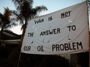 war is not the answer to our oil problem