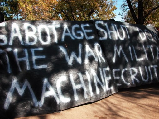 Sabatoge the War Machine, Shut Down Military Recruiters