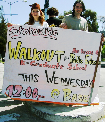 Students of all ages walked out of school to call attention to the public education crisis..