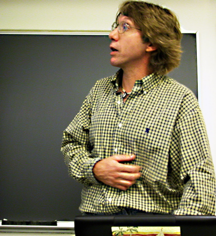 Tony Hoffman, a Psychology professor at UCSC, gave a presentation on Children in Especially Difficult Circumstances (CEDC).