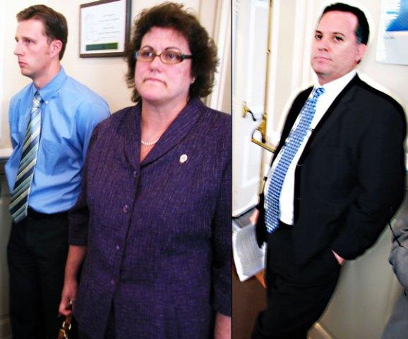 SCPD Zach Friend, Lt. Patty Sapone and Deputy Chief Kevin Vogel