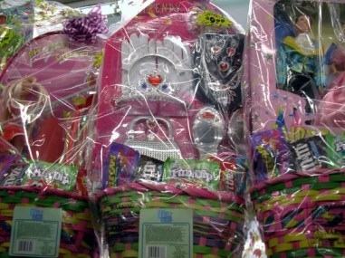 Although there were some militarized Easter baskets at the Capitola K-Mart, most were simply filled with genetically modified sugar fruit flavored candy and sweatshop-produced plastic toys.