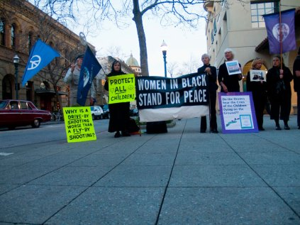 Women in Black Stand for Peace