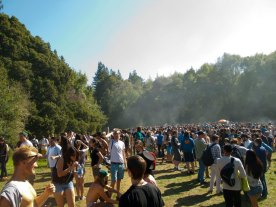 Smoke Rises Above Porter Meadow at UCSC