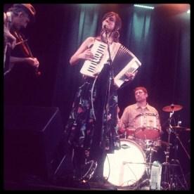 Mickey, Shiri, and Leo of Sour Mash Hug Band at Club Kuumbwa in Santa Cruz.