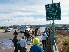Crossing the Pajaro River into Monterey County
