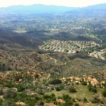 Looking at Oak Park from the top of China Flat. The original community of Oak Park is in the background.