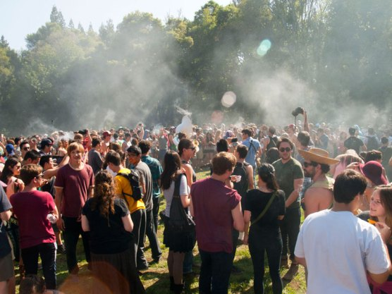 420 2014 in the Porter Meadow at UC Santa Cruz