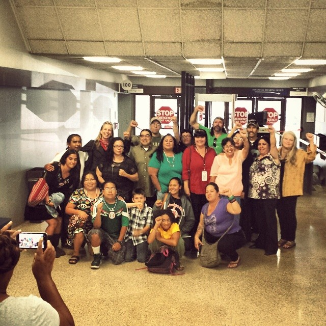 Solidarity with Wicahpiluta (Luta) Candelaria at the Hayward Hall of 'Justice'