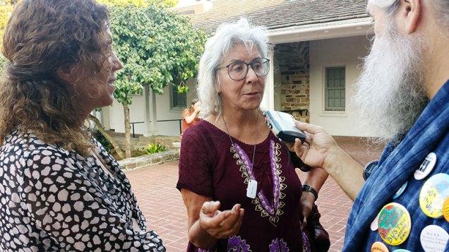 Paula and Paula speak with Robert Norse