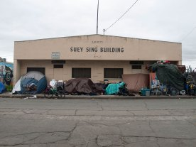 In 1961, over 400 delegates attended a weekend dedication ceremony for the newly constructed Suey Sing Association (tong) meeting hall at 23-25 Soledad Street. (Asian Cultural Experience)