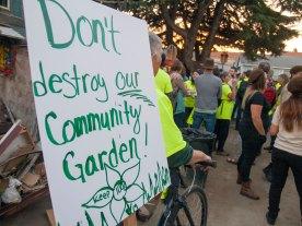 Don't Destroy Our Community Garden