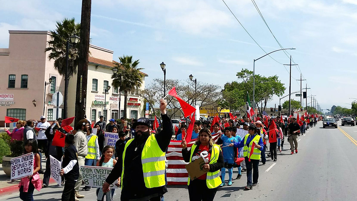 The annual Cesar Chavez March in Salinas, California. April 3, 2016. Photo by Michal Garcia.