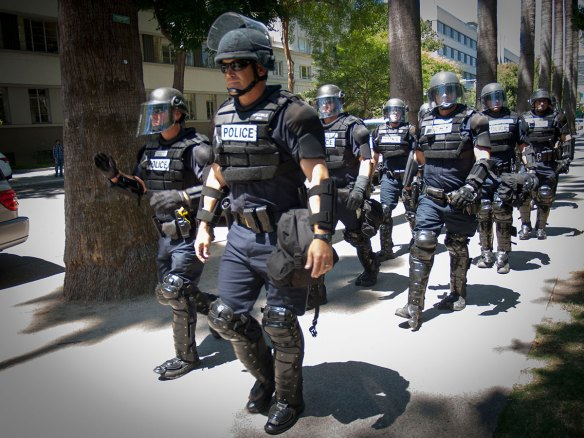 Police on the Sidewalk