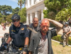 Bleeding Neo-Nazi Skinsheads