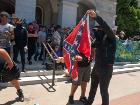 Southerners Ignite a Neo-Nazi's Confederate Flag
