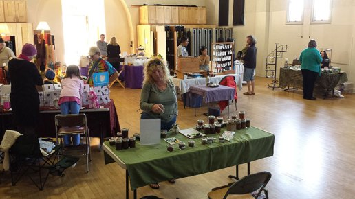 Checking out the Copper Pan Jams table