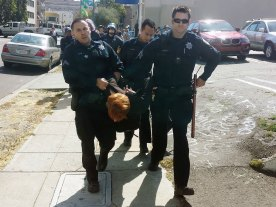 Oakland Police Carry Away An Arrested Demonstrator