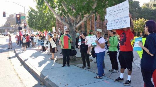 May Day Rally at Santa Cruz Clock Tower