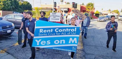 Rally for Rent Control in Santa Cruz