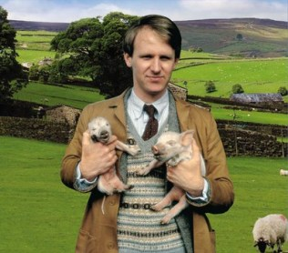 Peter Davison as Tristan Farnon in 'All Creatures Great and Small'.