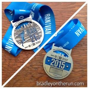 BMO Vancouver Half Marathon medal