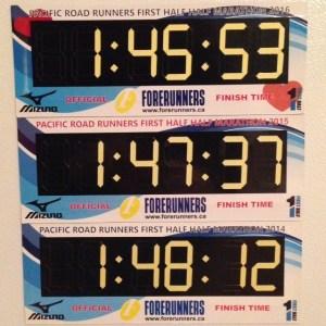 First Half Half Marathon