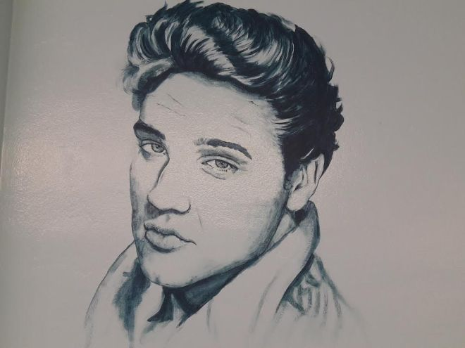 Elvis portait at U Wash in Tucson