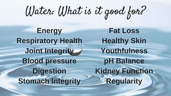 Chronic dehydration is a serious problem. Here is a list of all the benefits water has on the body