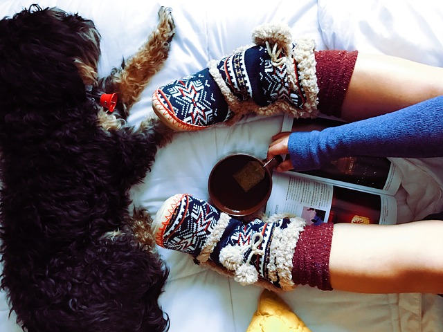 Wearing furry socks, cozy slippers, drinking tea and snuggling with your dog all represents what the Danes call hygge.