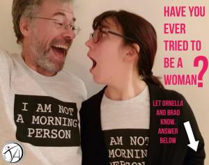 Ornella and Brad woman question