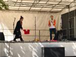 Ornella and Brad performing for TAC Teatro in Asnières-sur-Seine