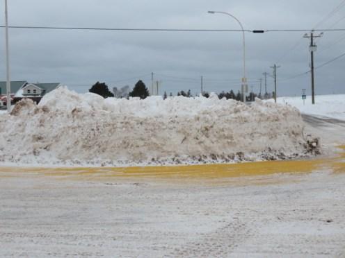 stanley bridge roundabout piled snow 1