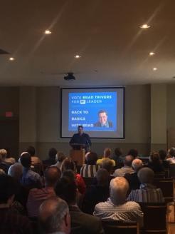 Brad Trivers for PEI PC Leader - announcement Scott Hammill 2