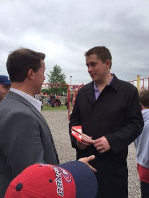 Andrew Scheer - Brad Trivers - Canada Day North Rustico 2017 3