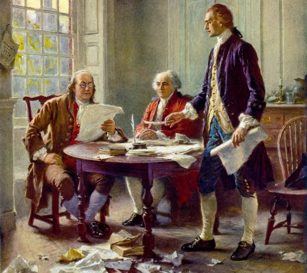 Writing the Declaration: One thing that I think 'defines us' more than, say, arguments over sex.