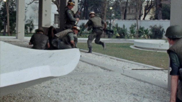 American Ms fighting off the VC who had entered the American embassy compound.