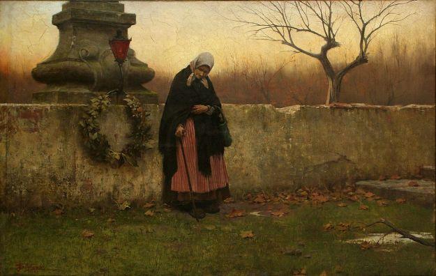 """All Souls Day"" by Jakob Schikaneder, 1888"