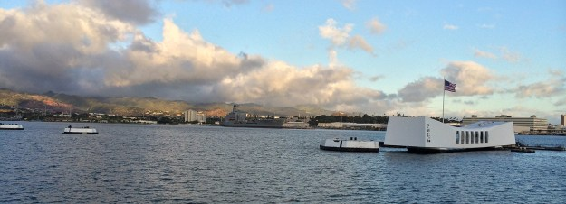 The USS Arizona memorial stands as grim reminder that attacks from the air DO happen, even in paradise.