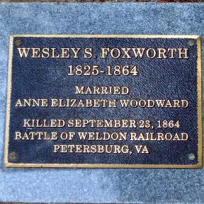 Wesley Samuel Foxworth marker