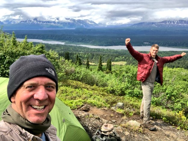 If the Post had checked Twitter, they'd have seen that James has been hiking in Alaska with son Thomas and dog Laffey.