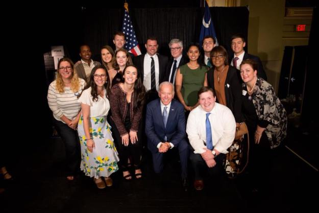 Biden group shot
