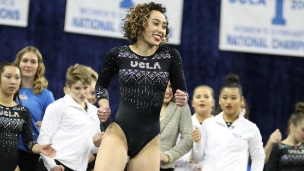 From the UCLA Gymnastics Twitter feed.