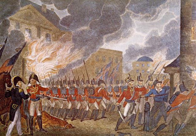 The burning of Washington.