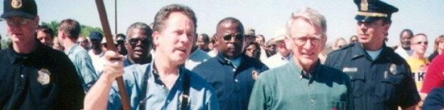 David Beasley, marching with Joe Riley to get the Confederate flag down in 2000.
