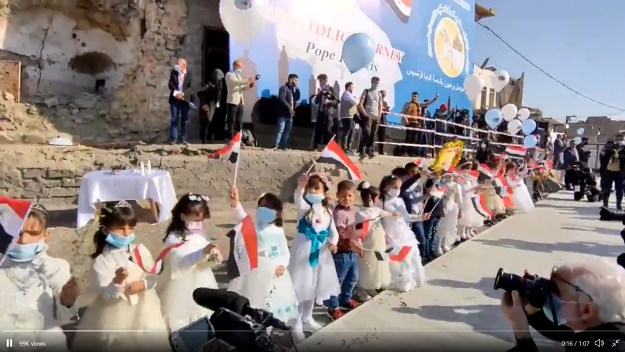 Mosul welcoming Pope Francis.