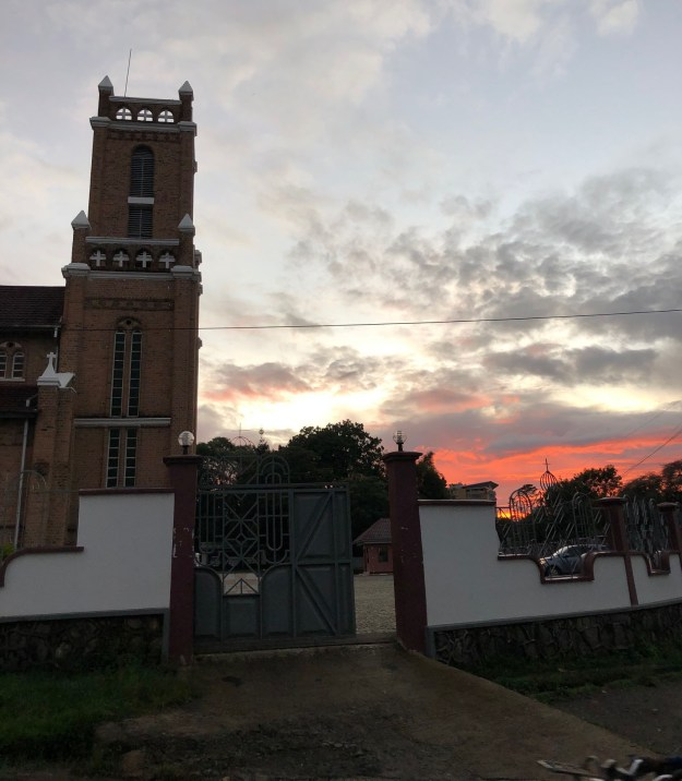 The churc h in Mbeya, Tanzania, where Paul attended Mass in 2020.